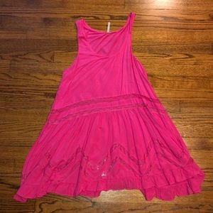 Pink dress from local boutique
